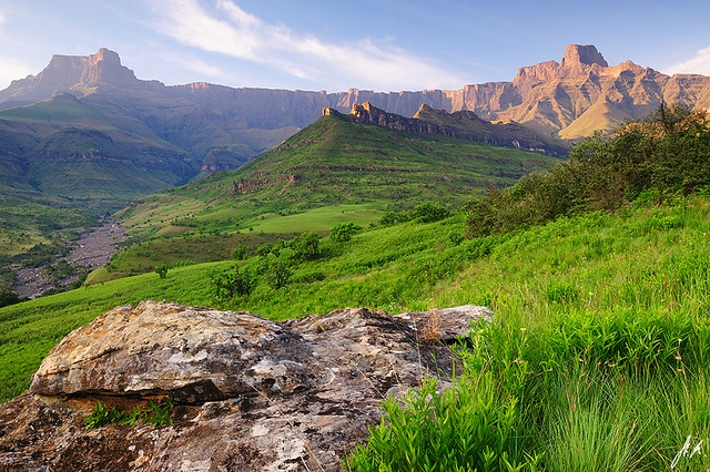 A new day at the Drakensberge - Royal Natal National Park, South Africa