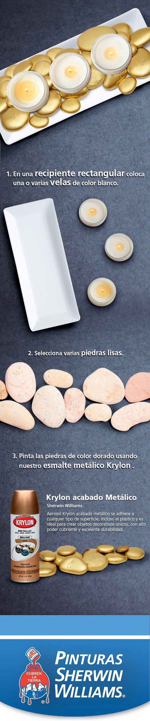 Dale un toque elegante a tu mesa con esta sencilla pieza. ¡Úsala como centro de mesa en una cena! #EstoPintaBien