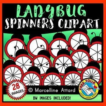 Ladybug spinners clipart for spring   Clip art, Heart ...