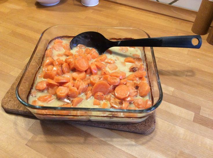 Gulerodsgratin med gorgonzola