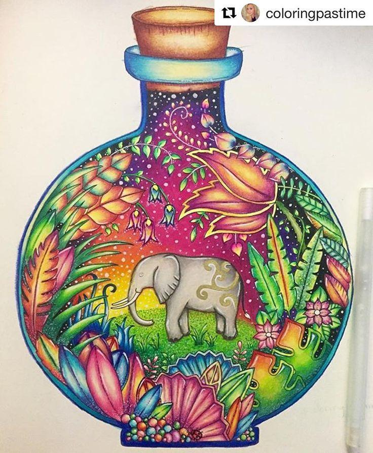 """503 curtidas, 9 comentários - Floresta Encantada 2 ✨ (@florestaencantada2) no Instagram: """"Que lindeza esse colorido da @coloringpastime,amei!  - (Livro Selva Mágica) ☺️"""""""