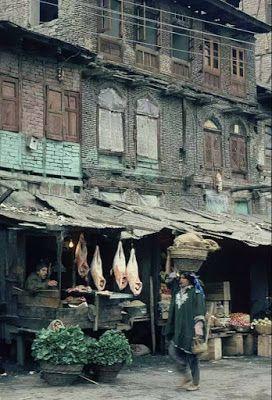 1980 meat shop Srinagar..