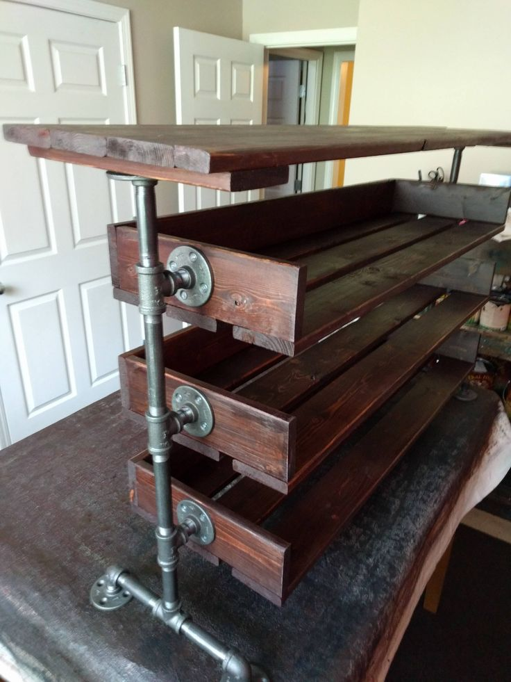 how to make a shoe rack out of wood