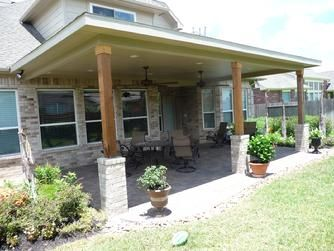 Pearland covered patio