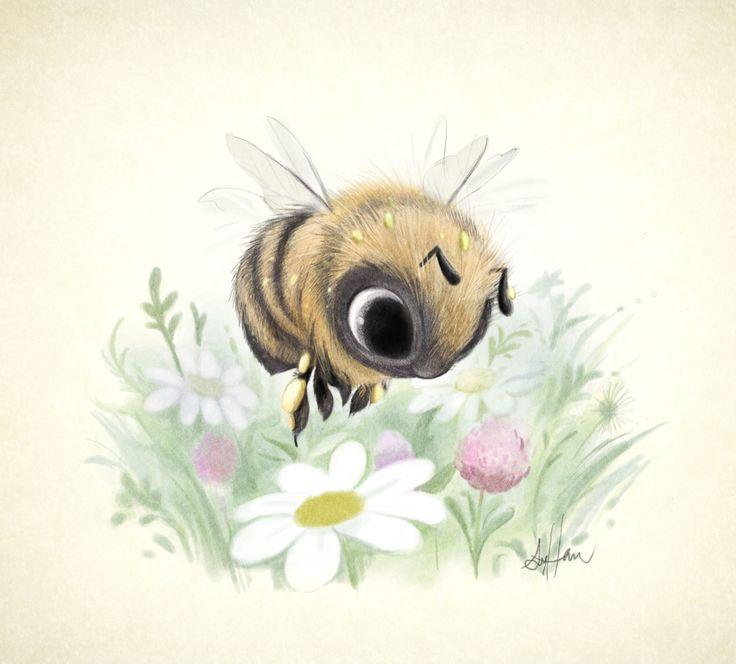 Little worker bee! Super cute illustrations by Sydney Hanson.