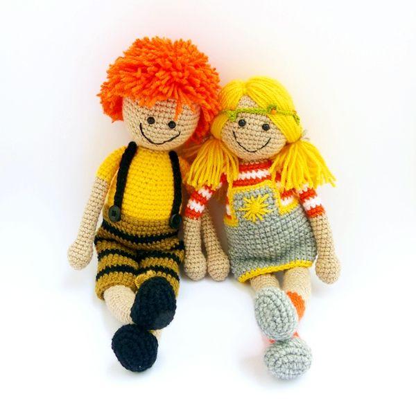 Sunny és Karotin - horgolt babák / Sunny and Carotene - crochet dolls