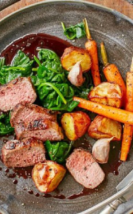 Low FODMAP and Gluten Free Recipes -  Lamb, spinach, carrots & rosemary potatoes  ---  http://www.ibssano.com/low_fodmap_recipe_lamb_spinach_carrots_rosemary_potatoes.html