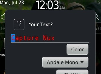 Capture Nux - Capture dan Edit dari BlackBerry mu
