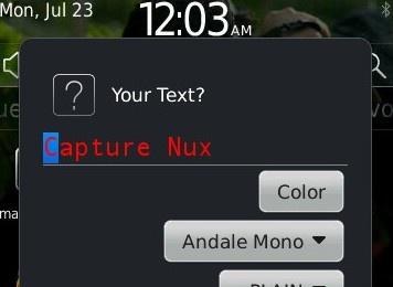 Capture Nux - Capture dan Edit dari BlackBerry mu