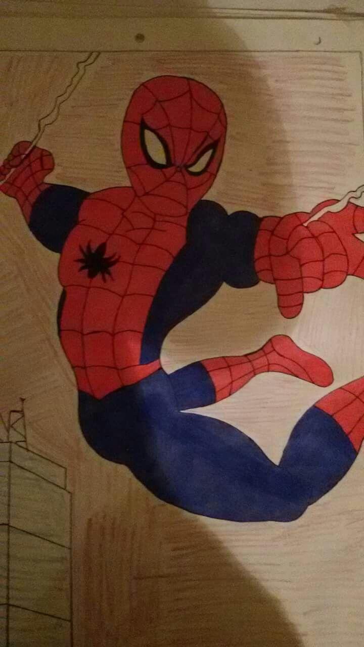 Retrato grande del hombre araña