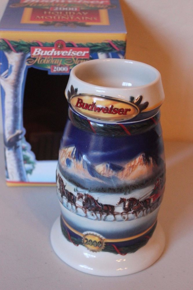 Budweiser Stein Mug 2000 Holiday in the Moutains Holiday Clydesdales Annual