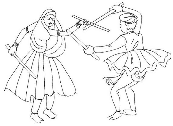 Navratri Coloring Pages Printable Crafts For Kids