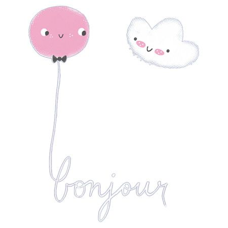 Add a cheerful touch to your child's bedroom or kitchen with this wall sticker. Featuring an illustrated balloon and cloud design, it adds a playful twist to...