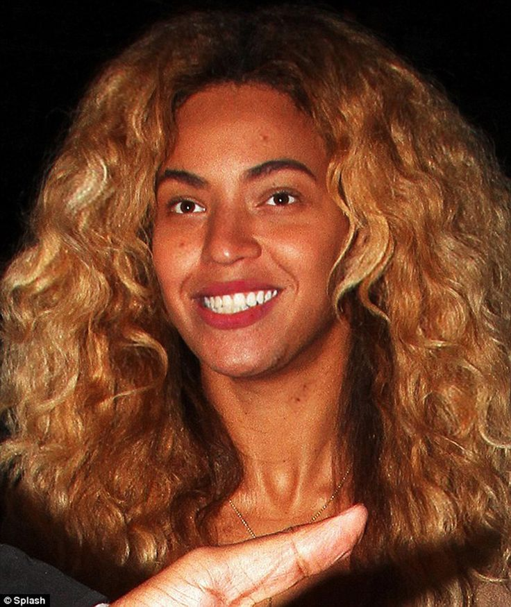 Beyonce Knowles No Make Up  BeyonceKnowlesMessNoMakeUpRealHairPlain