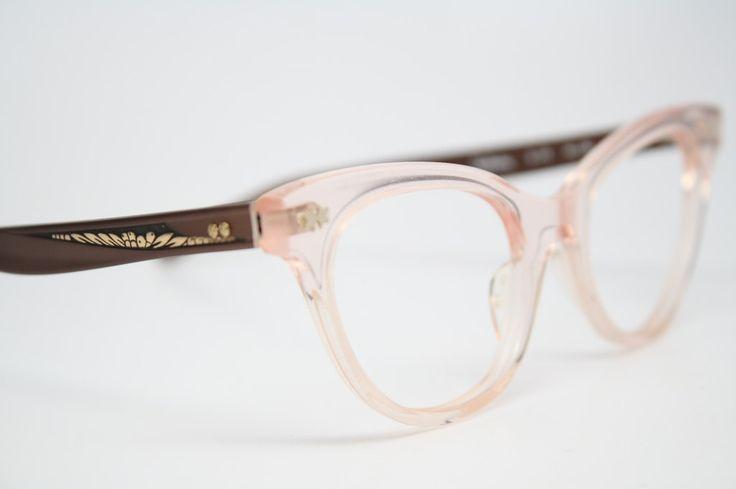 pink cat eye glasses vintage cateye frames by VintageOpticalShop, $95.00
