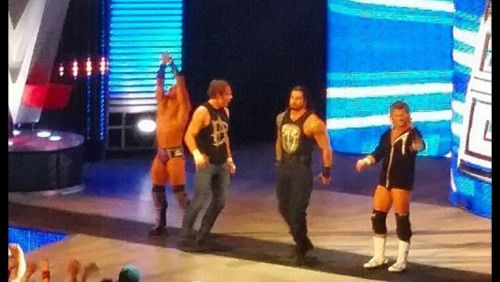 Roman Reigns, Dean Ambrose, Dolph Ziggler and Adrian Neville