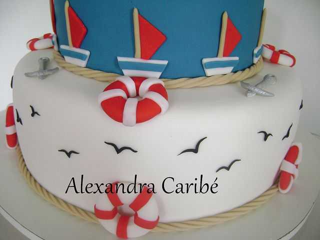 Bolo bebê marinheiro- baby sailor cake by Alexandra Bolos Artísticos, via Flickr: Baby Sailors, Baby Children, Wedding Cakes, Anwar Baby, Eating Cakes, Sailor Cake, Photo, App Cakepins Com, Birthday Cakes