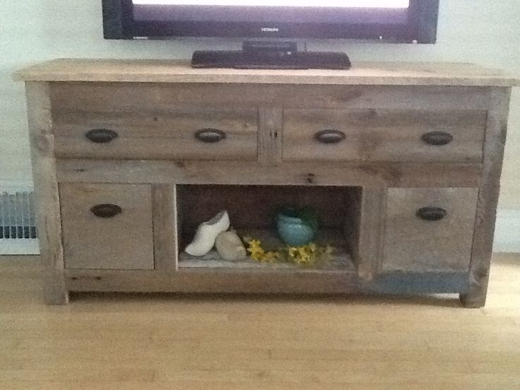 Barn Wood Tv Stand 1 Day Project For The Home Barn