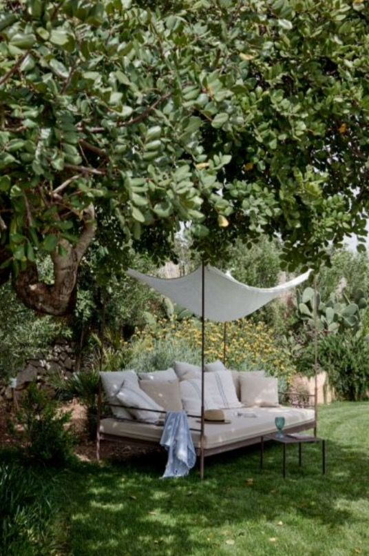 """This nice shady spot is from our feature """"Earthy Oasis"""""""