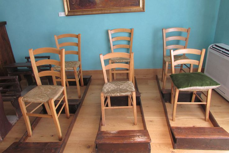 Lace Museum, Burano Island - seating for lacework
