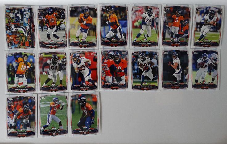 2014 Topps Denver Broncos Team Set of 17 Football Cards #DenverBroncos