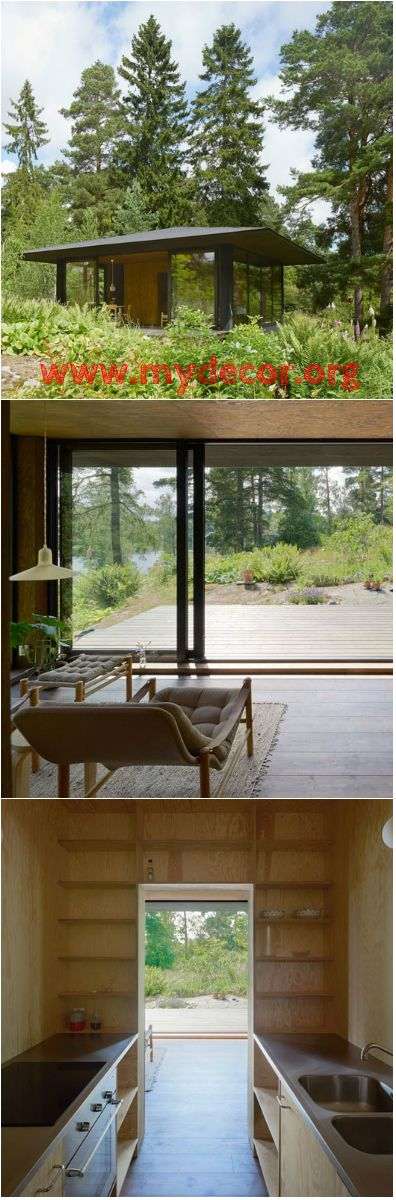 Contemporary Small Summer House in Stockholm You'd love this simple small home surrounded with trees! Check it out!     The size of a home is an important factor in order to live comfortably. But because of the creativity of designers, both small and large spaces become functional....