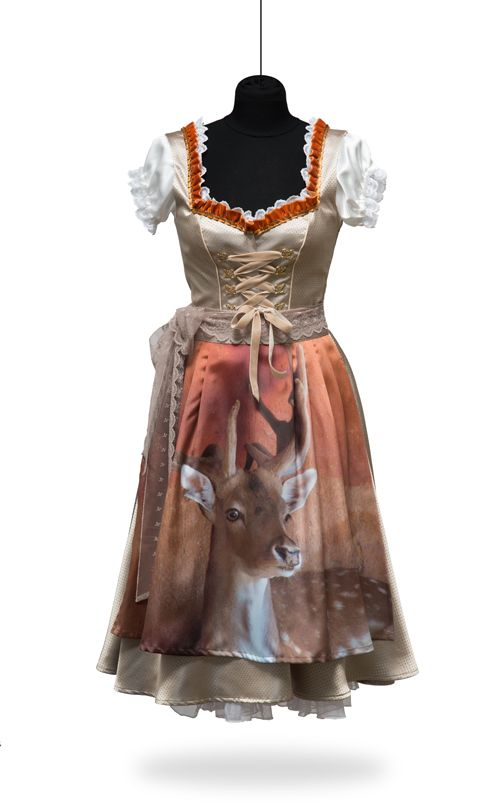 "St★Malene › Design Dirndl ""My Deer"""