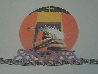 Santana-1998-RIVER-OF-COLORS-LONG-SLEEVE-CONCERT-T-SHIRT-VINTAGE-TULTEX-CARLOS