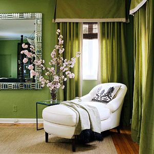 If your answers are all B's...  You color personality is GREEN!  Green symbolizes restorative qualities.  It is a healing color so use it to create a cozy haven.  From sage to hunter green, it can work well in every room of your home.  Or spice things up with a dash of chartreuse or a bold lime accen!