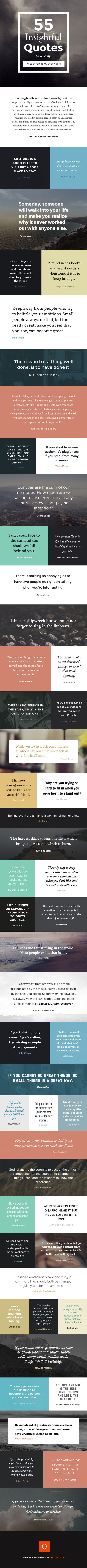 Less known, but highly insightful quotes from world's best authors are visualized in a great infographic from Quotery. If you love quotes,…