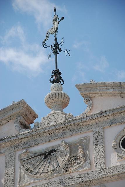 A weathervane atop Vizcaya mansion