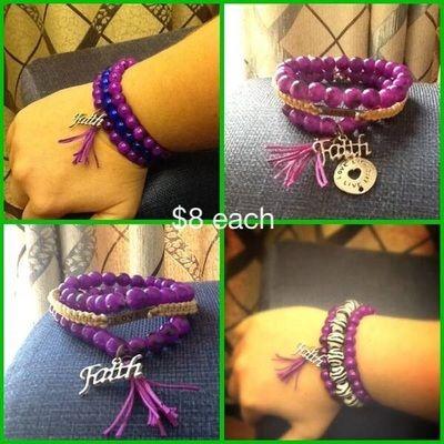 Beads. Tassel. Faith. Layered. Macrame. Bracelet. Jewellery. Boho.