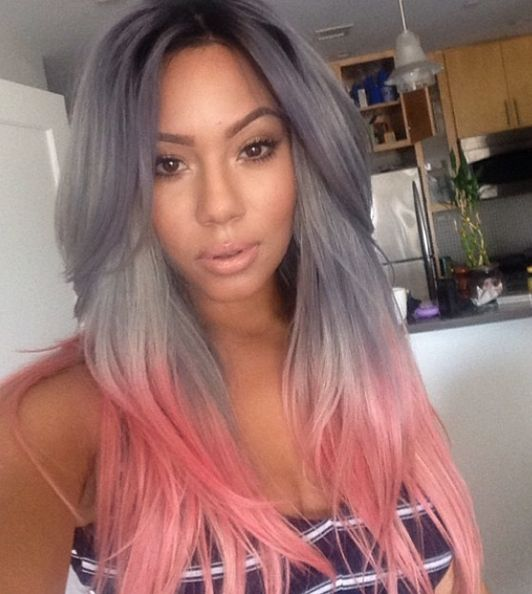 I would love this hair! maybe a lighter gray though too...
