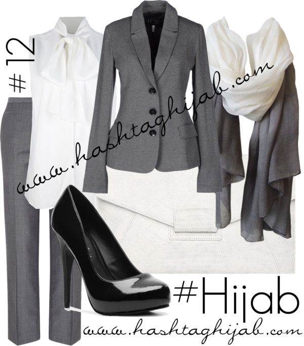 Style | Clothing wise | Dressy | feminine | Pretty • Chic | Her Outfit| Modest Professional • Business • Office • Work Attire {Gray & White}