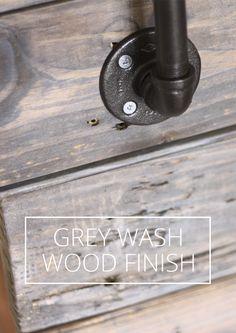 GREY WASH WOOD FINISH