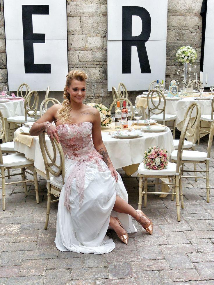 Németh Dorottya fitneszbajnok az Esküvő Classic magazin fotózáson