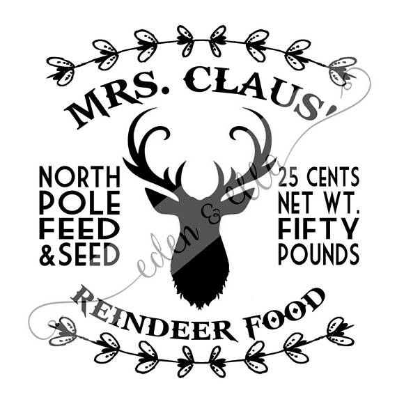 FARMHOUSE STYLE Mrs Claus Reindeer Food Instant