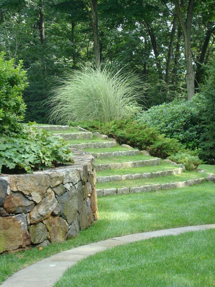 Rustic Steps Jh Love The Grass Steps Landscaping And