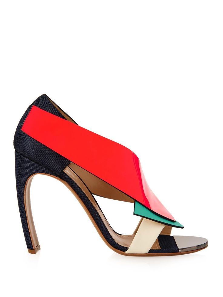 NICHOLAS KIRKWOOD X Roksanda colour-block sandals