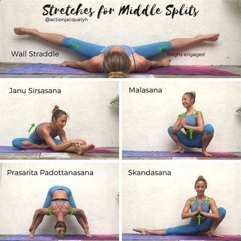 stretches for splits exercise  easy yoga workouts yoga