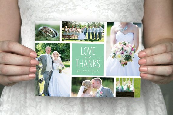 Sweet Little Sentiment Etsy listing at https://www.etsy.com/au/listing/173050920/diy-printable-six-photo-wedding-thank