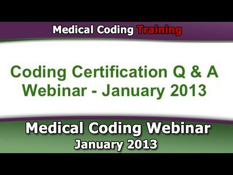53 best certified coder test how to pass the cpc exam tips medical coding webinar january 2013 click here to get access to the full medical coding sciox Images