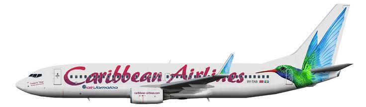 Caribbean Airlines Boeing 737-800 winglets artist rendering