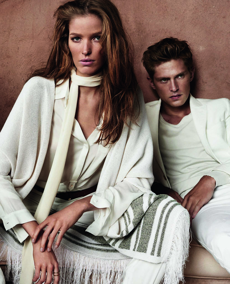 Massimo Dutti is a fashion house noted for its elegant and sophisticated design.  The Spring Summer 2015 Campaign photograph by Mario Testino
