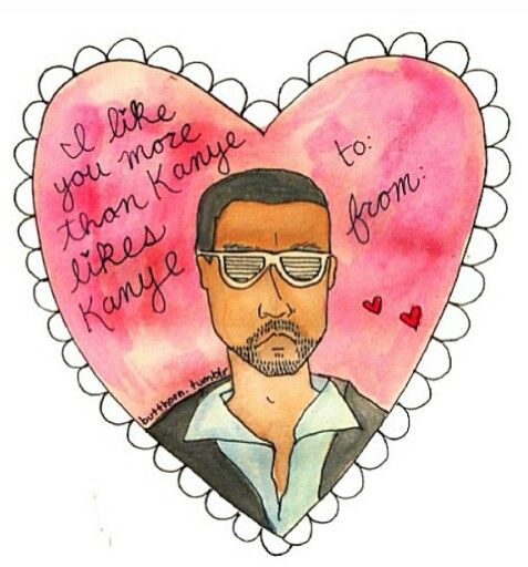 kanye west valentine's day card