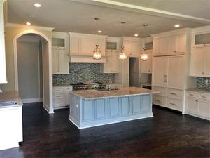 White kitchen cabinets  I  Custom European estate; Milton, GA