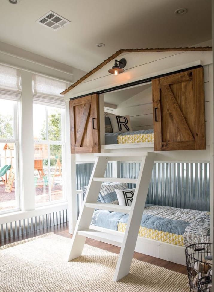 This Fixer Upper Inspired Dollhouse Is The Best Thing You Ll See All Day Bunk Bed Designs Farmhouse Bunk Beds Cool Bunk Beds
