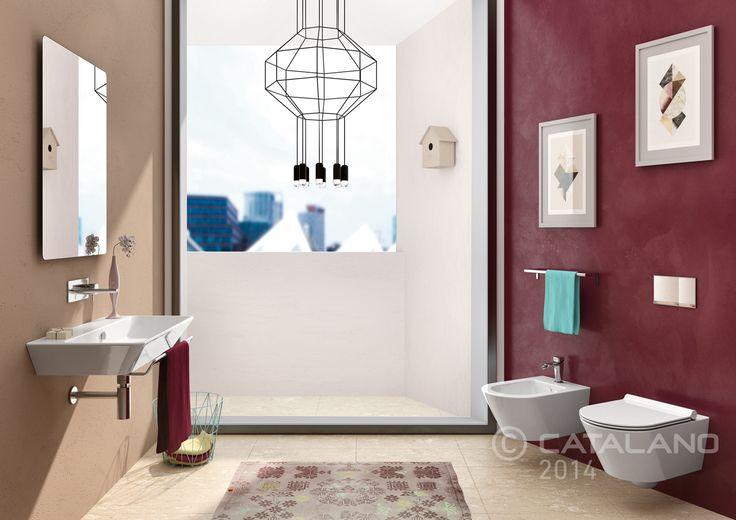 Proiezioni Washbasin 80, WC and bidet 55
