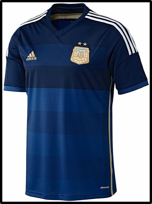 Argentina 2014 World Cup Home and Away Kit Leaked. The new Argentina 2014  Home Kit comes with black Adidas stripes and a white short.
