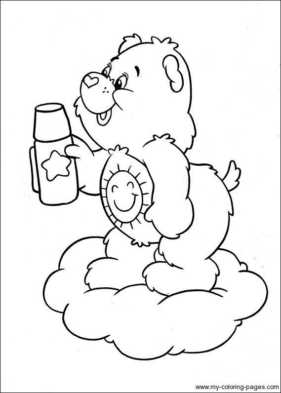 funshine cear coloring pages - photo#17